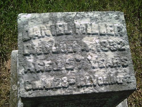 illinois union hobby civilwarveteran danielmiller paolakansas tombstonephoto paolacemetery coa123rdillinfantry