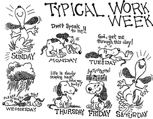 Snoopy Work Week The Gee Spot Flickr