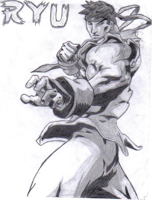 Ryu Drawing Xorou Flickr