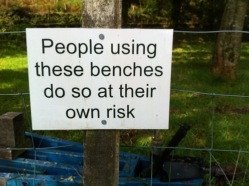 People using these benches do so at their own risk | by mcmorgan08