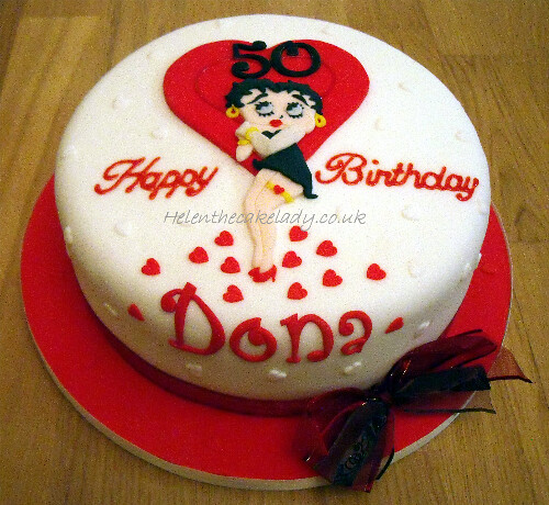 Astonishing Betty Boop Birthday Cake Betty Boop Birthday Cake For A 50 Flickr Personalised Birthday Cards Veneteletsinfo