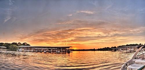 sunset oklahoma clouds boats grandlake hdr mariana