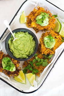 Plantain Latkes with Avocado Crema | by FerraroKitchen1