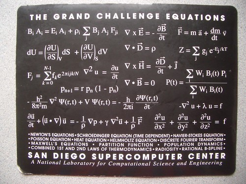 The Grand Challenge Equations: San Diego Supercomputer Center | by dullhunk