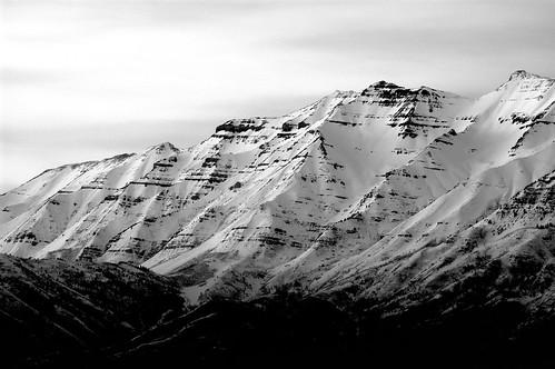 sunset bw 6 white mountain snow black march nikon bravo long exposure view post balcony mount timpanogos second d100 13 2007 my