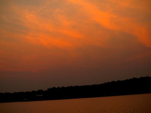 sky usa lake nature water sunrise ok eufaulalake pynok