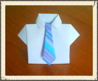 An Origami A Day: Origami Shirt | Origami shirt, Money origami ... | 265x320