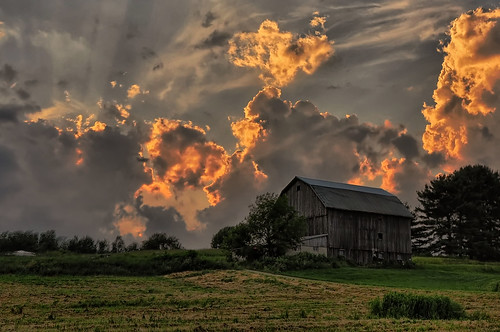 The Barn on the Hill by Robert Myer