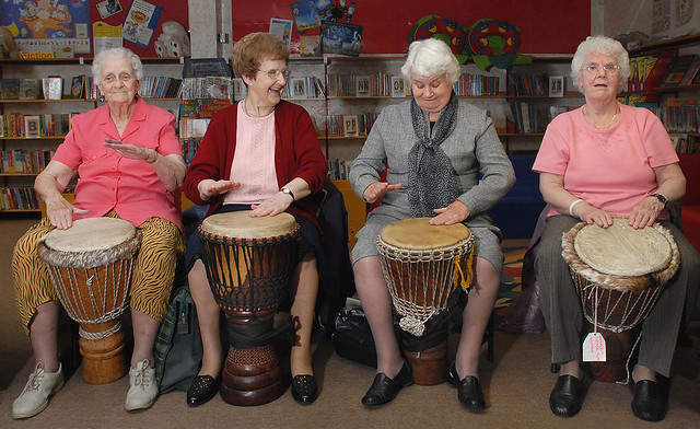 Zulu pensioners - drums