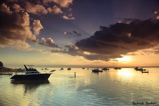 Morning Scene at Sindhu Beach, Sanur - Bali