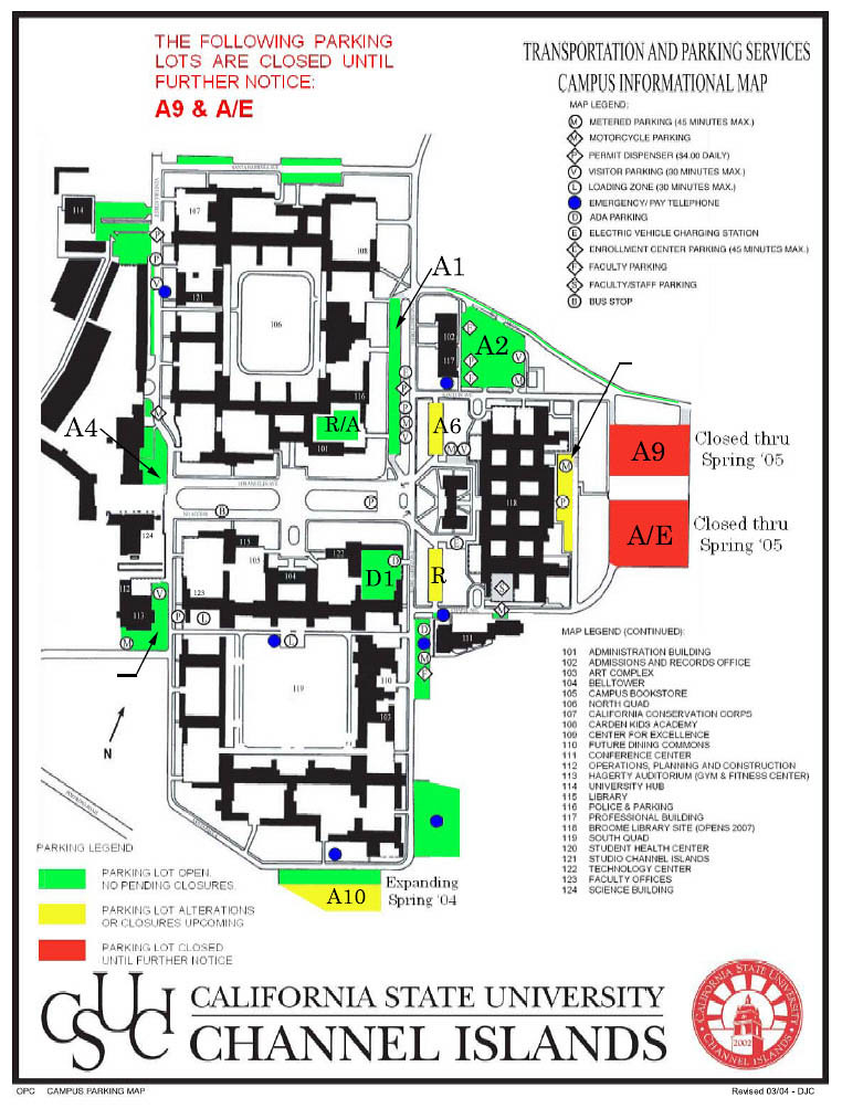 Csu Channel Islands Campus Map Campus Map from 2004 | California State University Channel Islands
