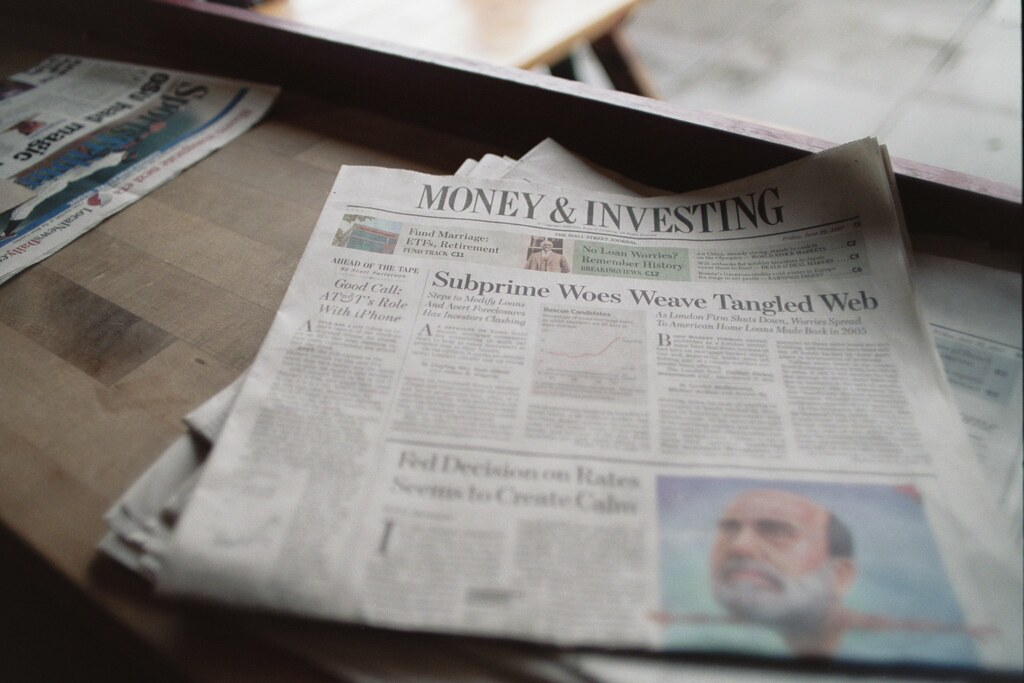 money & investing section, wall street journal