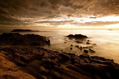 ocean california sunset beach wet water clouds rocks long exposure place pacific good filter lee sit laguna