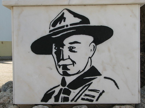 Lord Baden Powell plaque - Church at Ferragudo which he was involved in - The Algarve, Portugal | by Glen Bowman