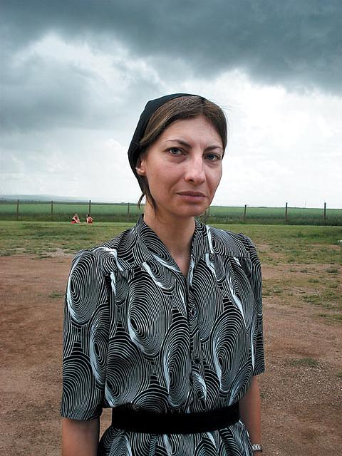 Maria Pankratz on set of Stellet Licht