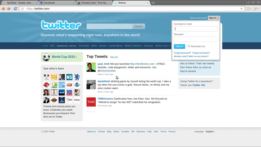Me on the Twitter homepage | Paul Irish | Flickr