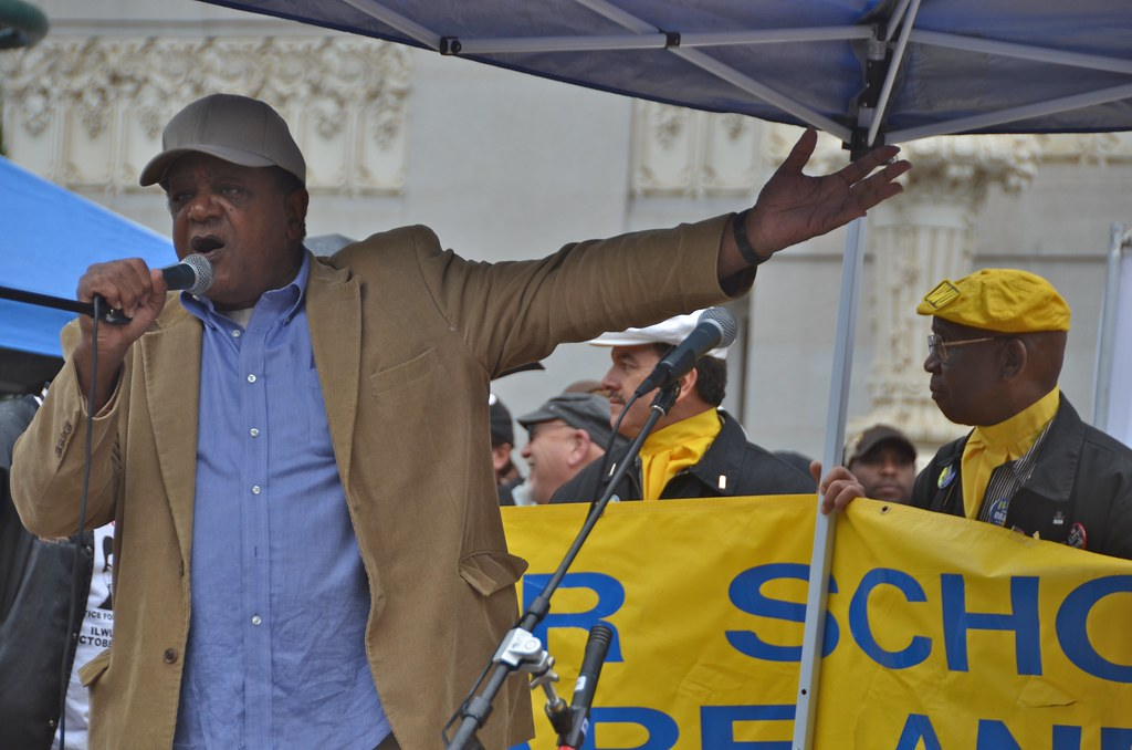 Bobby Seale at Oscar Grant rally in Oakland October 23, 2010 11