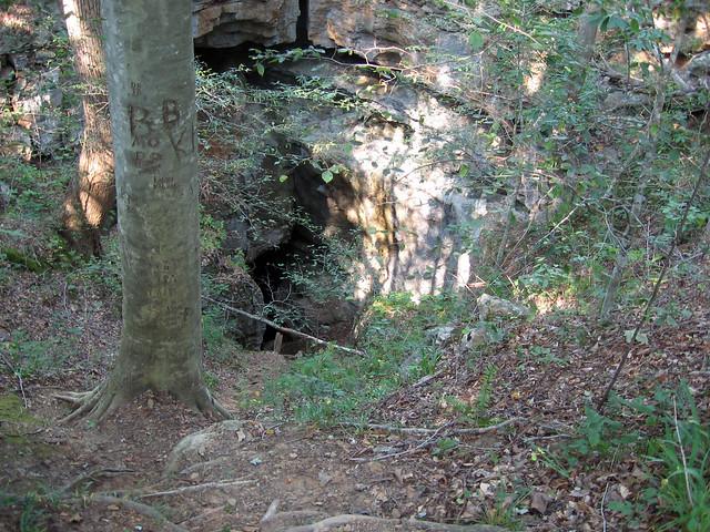 Entrance to Fox Hole Cave, Van Buren Co, TN