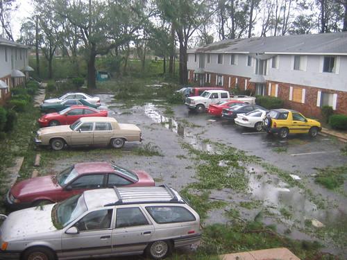 morning wet hurricane ivan damage davis pensacola hurricaneivan