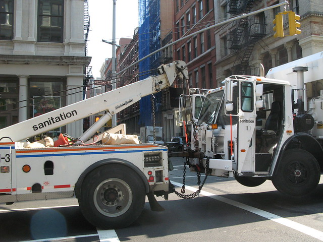 NYC Sanitation tow truck