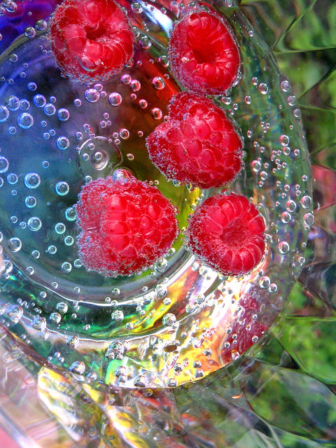 Raspberries & champagne in the garden 10
