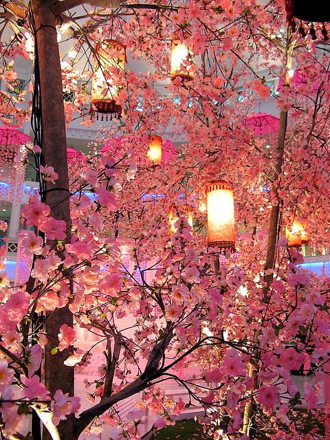 Chinese New Year Decoration Beautiful Ume Flowers Surround