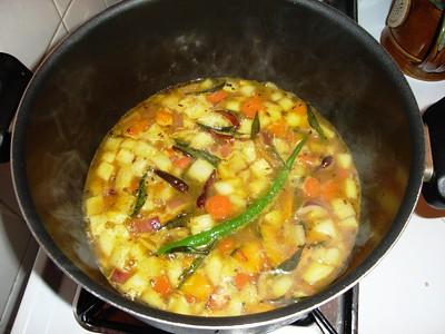 sambar, anna's throw in everything that's in the fridge version