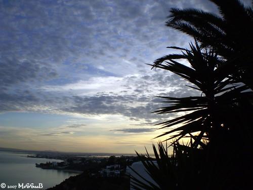 blue sunset sea tunisia bleu carthage tunisie