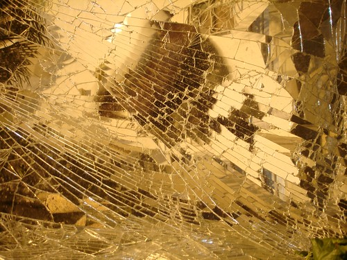 Broken mirror by my house