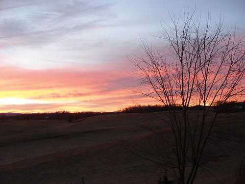 winter sunrise country