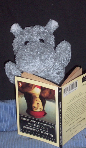 Hippo Enjoys a Book | by r.j.wagner