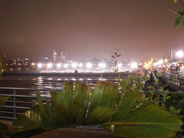 Santa Monica in the rain