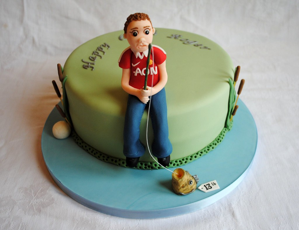 Miraculous Fishing Man U Themed Birthday Cake Thecustomcakeshop C Flickr Funny Birthday Cards Online Eattedamsfinfo