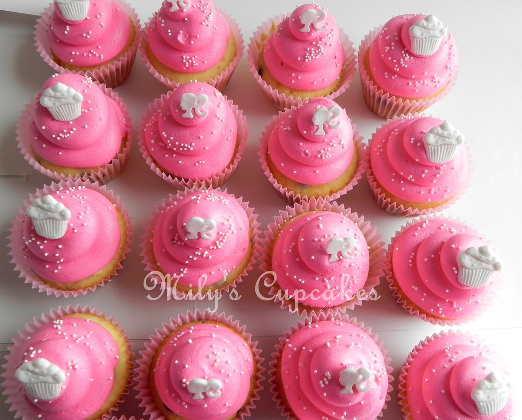 Super Barbie And Cupcakes Toppers Milys Cupcakes Flickr Personalised Birthday Cards Beptaeletsinfo