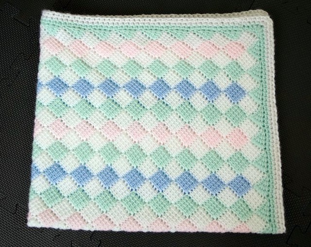 Tunisian Crochet Baby Blanket Finished Pattern Basic T Flickr