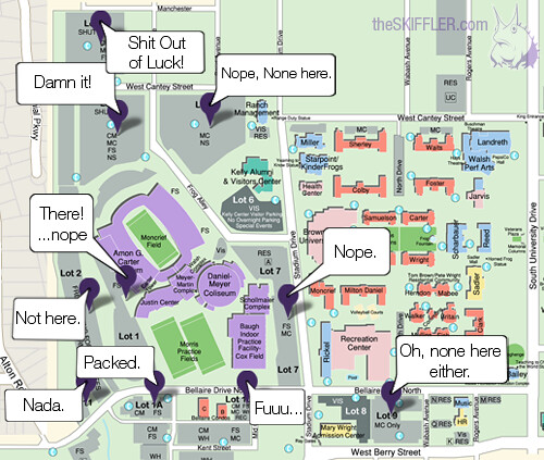 Tcu Parking Map TCU Parking Lot Map   The Skiffler | The way a search for th… | Flickr