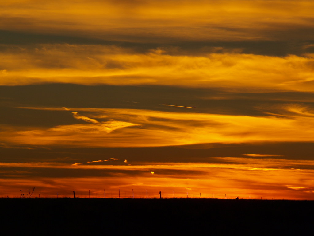 SUNSET ON THE HIGH PLAINS