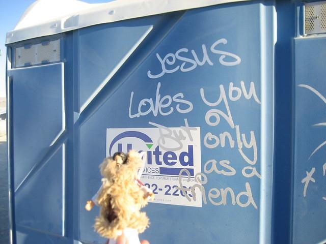 Jesus loves you, Burning Man 2007
