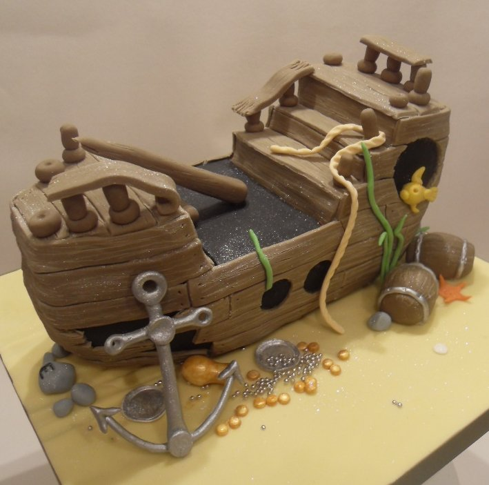 Sunken Pirate Ship Cake