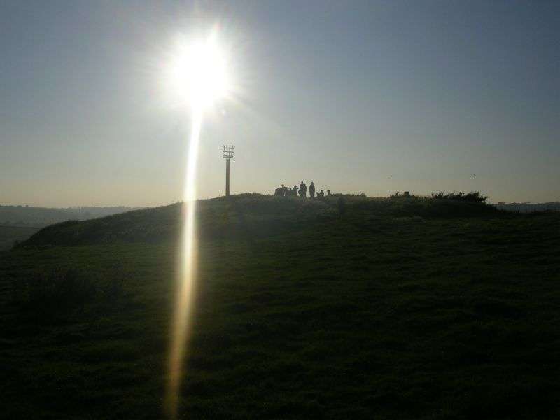 Walkers at Winchelsea beacon Rye Circular