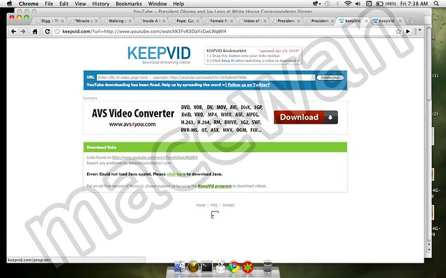 Keepvid Java applet Google Chrome | Has KeepVid always used … | Flickr
