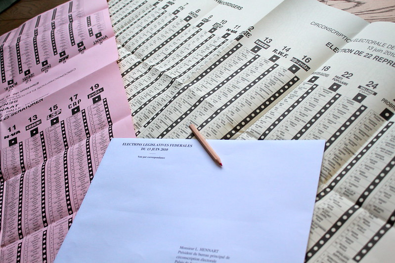 Verkiezingspapieren toegekomen (in Franstalige briefomslag)