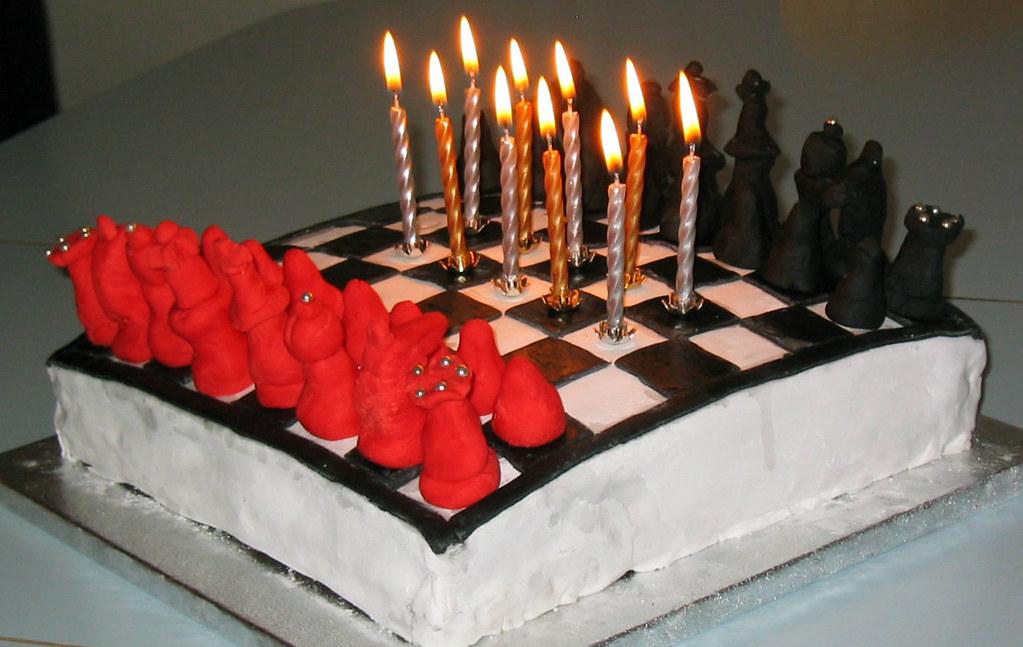 Groovy Chess Birthday Cake Sebs 10Th Simonfallon Flickr Funny Birthday Cards Online Overcheapnameinfo