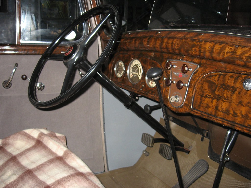 Interior of the 1934 Pontiac | Rosewood dash | mojohand | Flickr