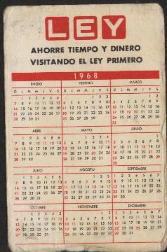 Calendario 1968.Tolima 1968 Calendario 1968 Del Deportes Tolima Pablo