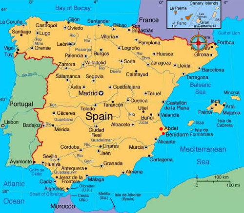 Spain Map | Spain Map: Now everyone can know where Mallorca ...