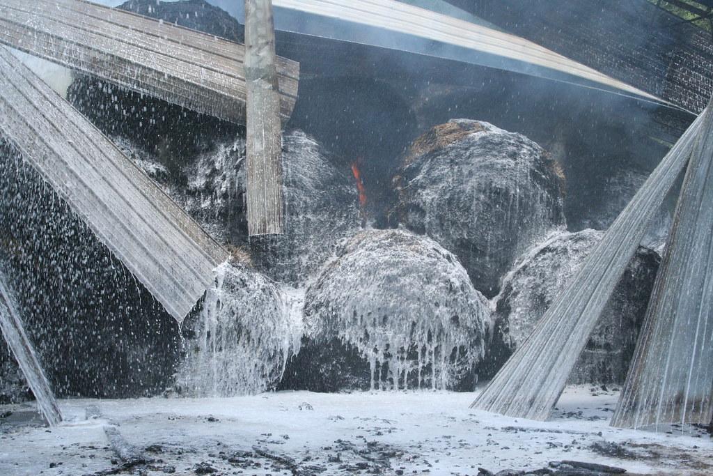 Foamed | Hay barn fire. Clinton, LA Volunteer Fire ...