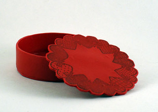 Red Heart Stamp Box