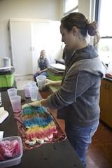Yarn School 2006: Amber dyeing top