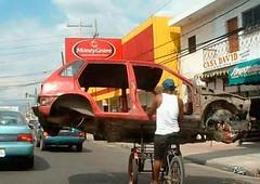 bike carries car | by Mikael Colville-Andersen